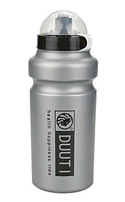 Cycling 500ML Silver Grey HDPE Sport Water Bottle