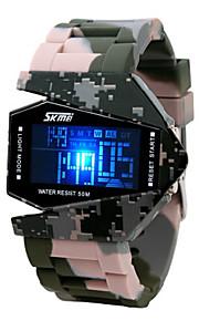 Masculino Relógio Militar Digital LED / LCD / Calendário / Cronógrafo / Impermeável / alarme Banda Cores Múltiplas marca-