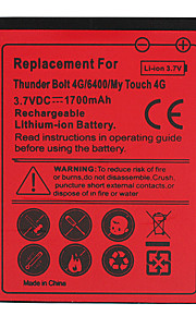 1700mAh bateria do telefone celular para HTC 4G toque 4G/6400/my