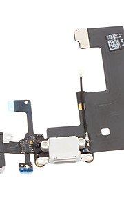 Dock Connector lader ladeport og mikrofon Hode Jack Flex Cable Ribbon Reparasjon Deler til iPhone 5