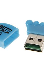 Scheda di memoria USB 2.0 Reader (giallo / bianco / blu / rosa / verde)