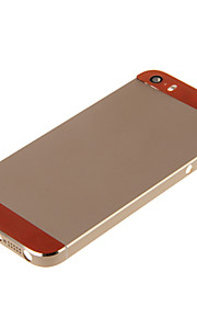 Champagene Hard Metal Alloy Tillbaka Batterihus med Orange Glas för iPhone 5s