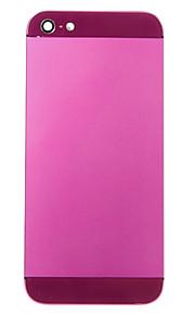 Fuchsia Liga de Metal Voltar Bateria Caixa com vidro escuro roxo para iPhone 5