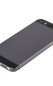 Gray Hard Metal Alloy Tillbaka Batterihus med Svart Glas för iPhone 5s