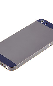 Gray Hard Metal Alloy Tillbaka Batterihus med marinen Glas för iPhone 5s