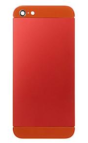 Red Liga de Metal Voltar Bateria Caixa com vidro laranja para iPhone 5