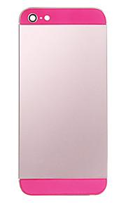 Rosa Liga de Metal Voltar Bateria Caixa com Rosa de Vidro para o iPhone 5