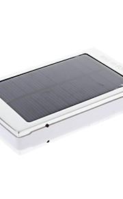 8000mah multi-output sol externt batteri silver för mobil enhet