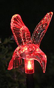 Solar Color-Changing Hummingbird Garden Stake Light (CSS-57326)