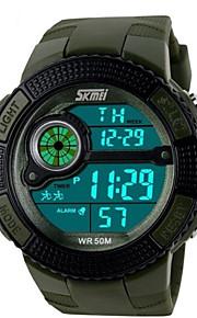 Masculino Relógio Esportivo Quartzo Japonês LED / Calendário / Cronógrafo / Impermeável / alarme PU Banda Preta / Azul / Verde marca-