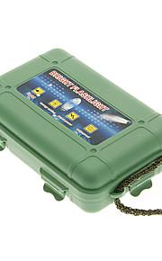 Beskyttende Plastic slagfast lommelygte Taske - Army Grøn