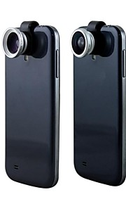 아이폰 5및 다른제품용 3in1 180°피쉬 아이렌즈+ 와이드 렌즈 + 0.67X 매크로 클립 렌즈