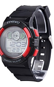 TIME100 Unisex Digital Dial PU Banda Japaness LED Quartz Multifunction eletrônico Sport Watch