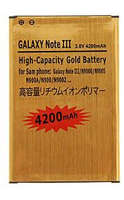 4200mAh hoge capaciteit mobiele telefoon batterij Gouden voor Samsung Galaxy Noto III