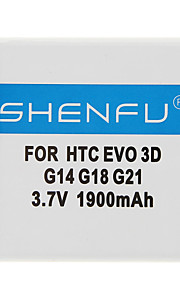 Shenfu 1900mAh Matkapuhelin akku HTC EVO 3D G14 G18 G21