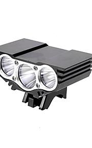 Hovedlygter 4.0 Tilstand 3800 Lumens Vanntett / Genopladelig Cree XM-L2 U2 C-Celle Multifunktion Aluminiums Legering