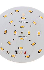 10W Taklys 24 SMD 5730 800-900 lm Varm hvit Dekorativ AC 100-240 V