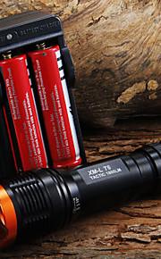 Lanternas LED / Lanternas de Mão LED 5 Modo 1800 Lumens Foco Ajustável Cree XM-L T6 18650.0Campismo / Escursão / Espeleologismo / Uso