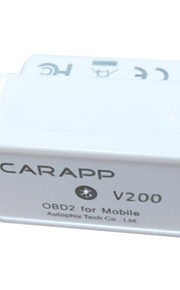 CARAPP® OBD2 OBDII Bluetooth Auto Car Diagnostic Scan Tool Mini Smart Car Trip Computer  V200 - Supports iOS and Android