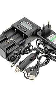 Soshine H2 Carregador de Bateria para 26650/18650/16340 (para 2 baterias) e carregador de carro