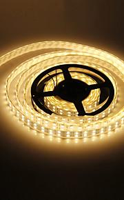 ZDM ™ vanntett 5m 144w 600x5050smd varmt hvitt lys ledet stripe lampe (DC 12V)