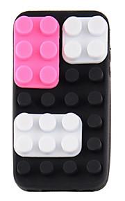 실리콘 DIY 보호 iPhone4/4S를 (검은 색과 자주색)를위한 케이스