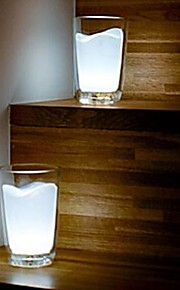 Coway kreativ hvit melk cup lampe nattbordlampe ledet lampen lyser