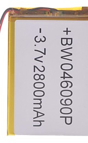 "Universele vervanging van 3.7V 2800mAh Li-polymer batterij voor 7 ~ 10 ""Macbook Samsung Acer Sony Apple Tablet PC (4 * 60 * 90)"