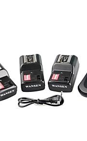 WanSen PT-16GY PT16GY 16 canais sem fio de disparo Flash Radio transmissor com 3 receptores para Canon Nikon Pentax Camera