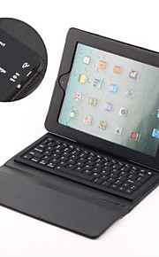 Tastiera wireless bluetooth con custodia in pelle PU per Nuovo iPad - Nero