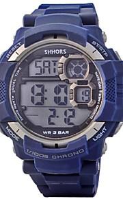 Masculino Relógio Esportivo Quartz LED / Calendário / Cronógrafo / Impermeável / alarme PU Banda Preta / Azul marca-