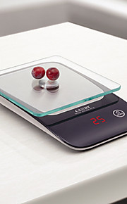 5kg/11lb Kitchen Digital Scale with high precision strain gauge sensor and magic display red LED backlight