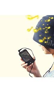 cappello beanie cuffie incorporate 3.5mm per il tablet iphone mp3