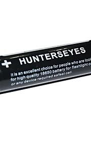 Hunterseyes 18650 2400mAh 3.7V oplaadbare batterij Black