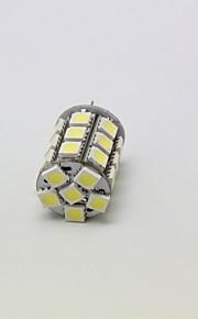 youoklight® g4 4w 27 * smd5050 250lm varma / kallt vitt ljus majs lökar (ac / 12V)