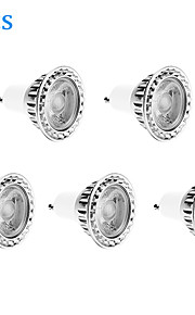 <5pcs Duxlite ניתן לעמעום GU10 10W (= הלוגן 90W) CRI> 80 1xCOB 810LM 3000K הנורה ספוט LED הלבן האור חם (AC 220-240V)