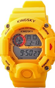 Kingsky®Men LED Digital Multifunction Sports Wrist Watch 30m Waterproof Assorted Colors