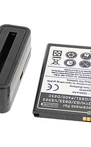 alta capacidad de las baterías 3500mAh 3.8v baterías y cargador para g3 lg
