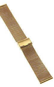 Masculino / Feminino Pulseiras de Relógio Aço Inoxidável #(0.047) #(16.5 x 2.4 x 0.3)