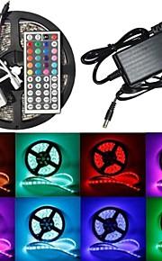 5 - M -  300 - 5050 SMD - RGB - Vattentät/Fjärrkontroll W - Flexibla LED-ljusslingor - AC100-240 - V