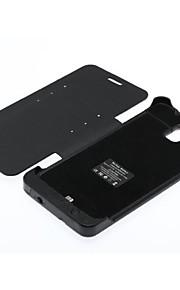 4200mAh nero cassa di batteria esterna per Samsung Galaxy Note 3 n9005 w / stand