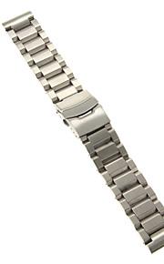 Masculino / Feminino Pulseiras de Relógio Aço Inoxidável #(0.1) #(22 x 2.2 x 0.3)