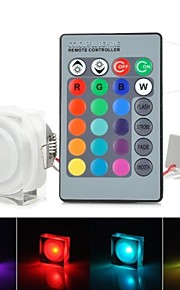 rgb lys ledet akryl taklampe med fjernkontroll - hvit (ac85-265v) 220lm 3W