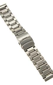 Masculino / Feminino Pulseiras de Relógio Aço Inoxidável #(0.1) #(24 x 2.4 x 0.3)