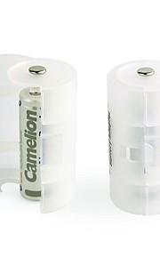 camelion batterij adapters voor aa batterij converteren naar d-formaat (2 stuks)