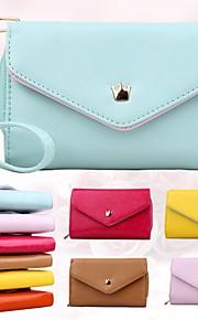 kvinners multi foreslå konvolutt pu lommeboken vesken for iPhone og Samsung (assortert farge)