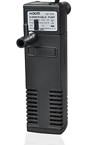 3W Immersible Submersible Filtration Pump for  Fish (Black) (220~240V/50Hz)