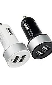 높은 quarlity 듀얼 USB 차 충전기 아이폰 6 / 6plus 아이폰 5 / 5S 및 기타 스마트 폰 및 탭 (모듬 색상)