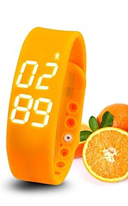 slims slimme armband horloge stappenteller slaap bewaking temperatuurbewaking time digitale lada bewegingssensor