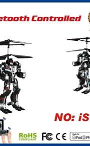 i-helicóptero de controle rc 2.5ch robô com giroscópio para iphone, ipad e android